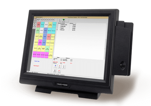 Rendering of software application on POS system