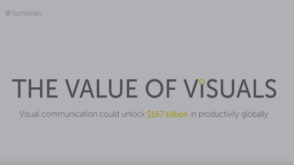 TechSmith Value of Visuals still