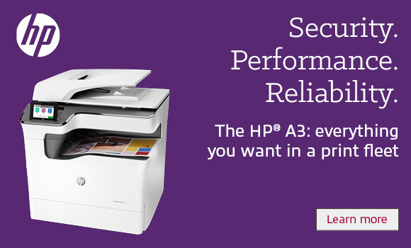 Security. Performance. Reliability. The HP A3: everything you want in print fleet.