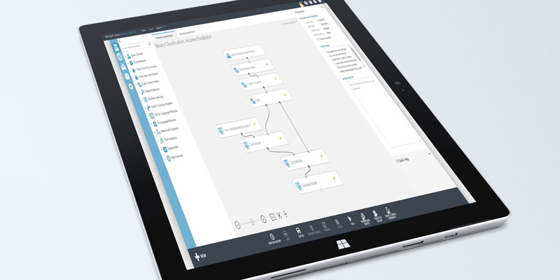 Microsoft Visio displayed on Surface tablet computer