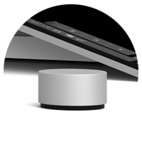 Isolated view of the Surface Dial on desktop