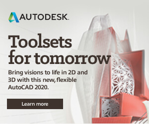 Ad: Autodesk toolsets for tomorrow. Bring visions to life in 2D and 3D with this new, flexible AutoCAD 2020. Learn more