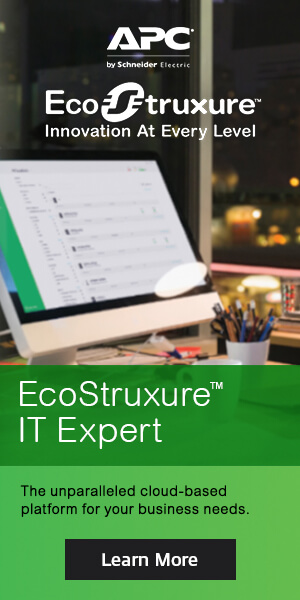Ad: APC EcoStructure IT Expert. Learn more
