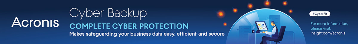 Ad: Acronis Cyber Backup. Learn more