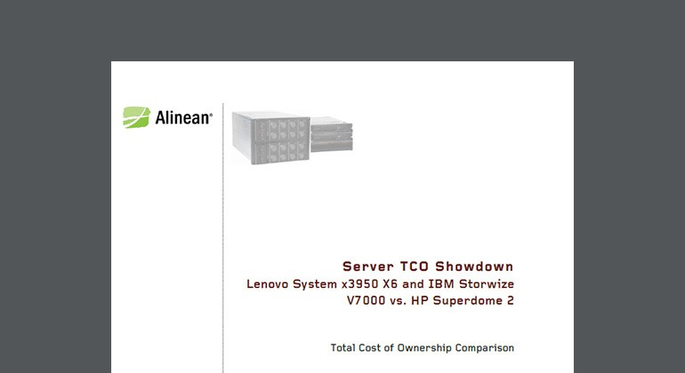 Server TCO Showdown: Lenovo and IBM vs Lenovo whitepaper preview