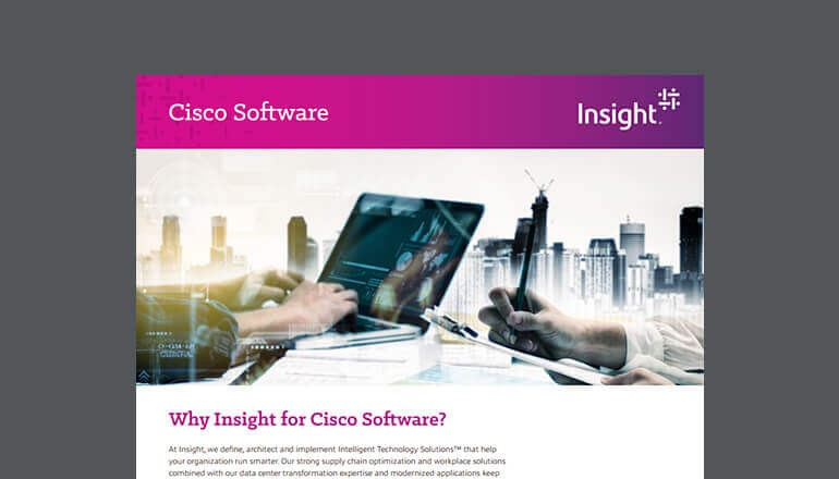 Why Insight for Cisco Software? cover