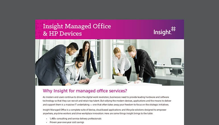 Insight Managed Office & HP devices datasheet thumbnail