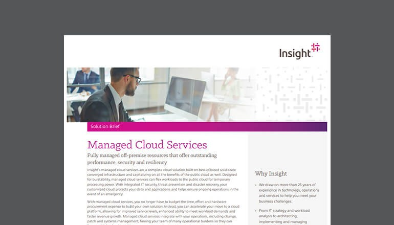 Managed Cloud Services brief thumbnail
