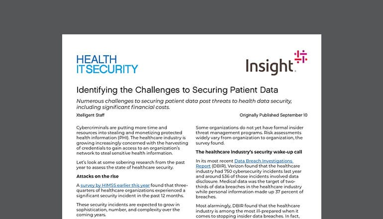 The Challenges to Securing Patient Data thumbnail