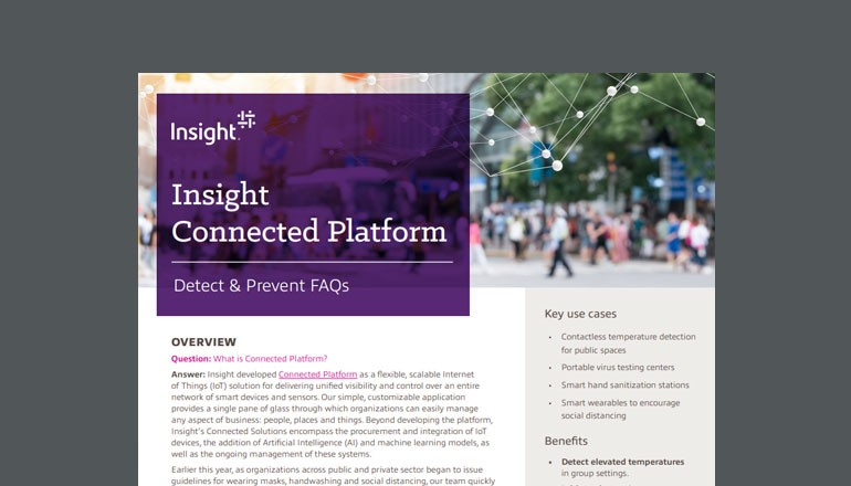 Cover of FAQ: Insight's Connected Platform for Detection and Prevention available to download below