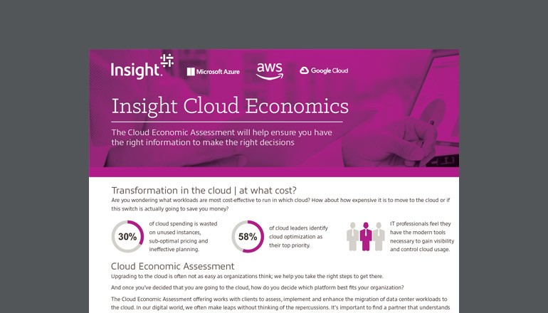 cover of Insight cloud economics datasheet available to download below