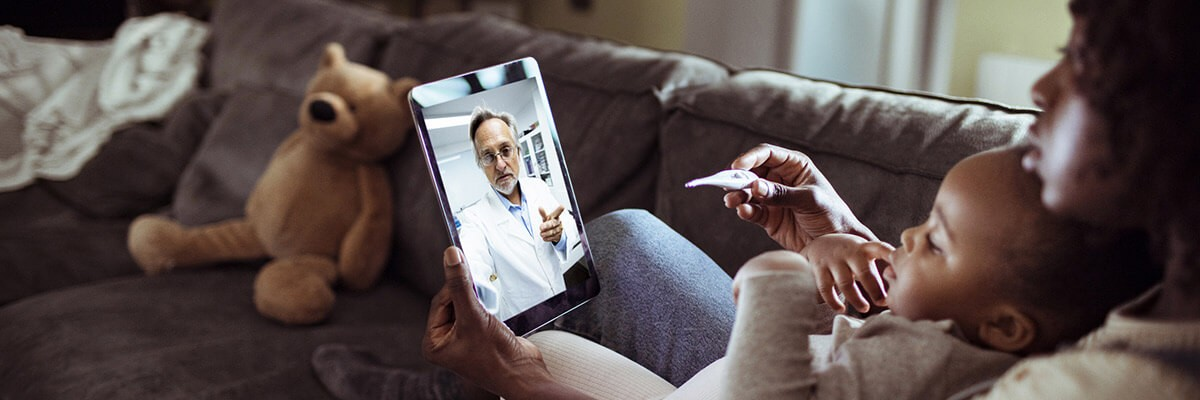 Online consultation with doctor. Accelerate adoption of Telehealth