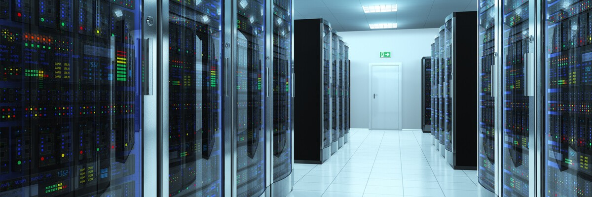 Rows of data center storage