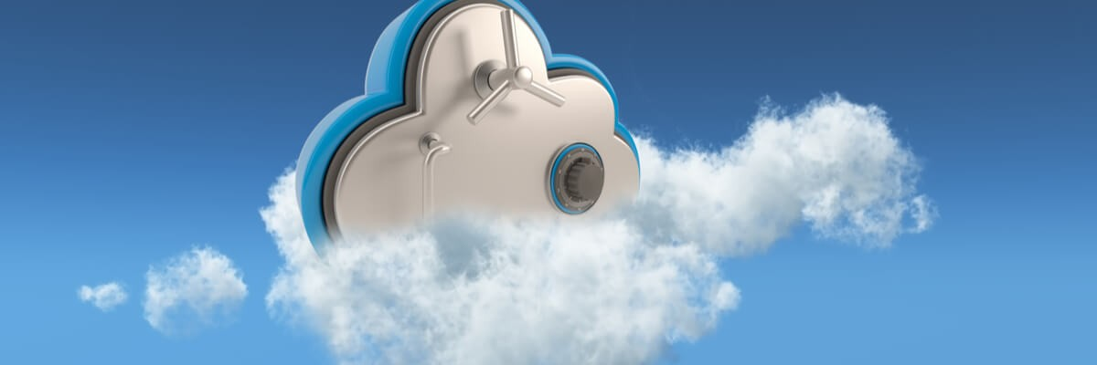 Rendering of a bank vault on a cloud