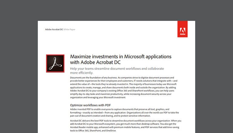 Cover view of Adobe whitepaper available to download below