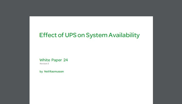 Effect of UPS on System Availability whitepaper thumbnail