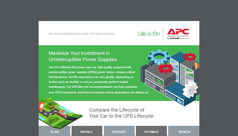 Cover of Maximize Your Investment in UPSs infographic
