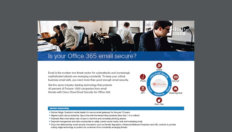 Is Your Office 365 Email Secure? datasheet cover