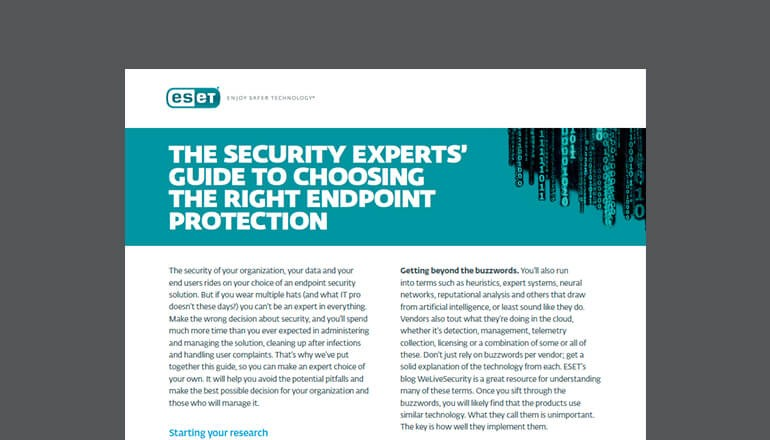 Experts' Guide to Choosing Endpoint Protection thumbnail