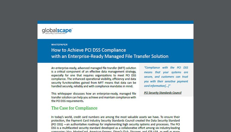 How to Achieve PCI DSS Compliance With an Enterprise-Ready Managed File Transfer Solution thumbnail
