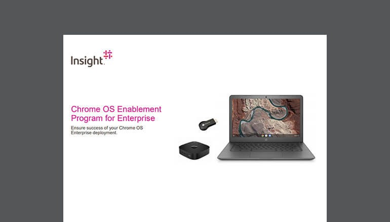 Cover of Chrome OS Enablement Program for Enterprise solution brief available to download below