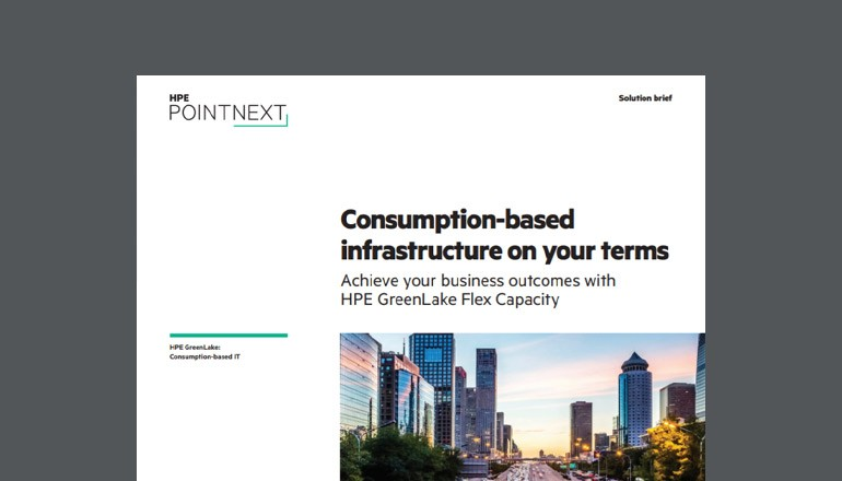 Cover of HPE Consumption-based infrastructure on your terms solution brief  available to download below