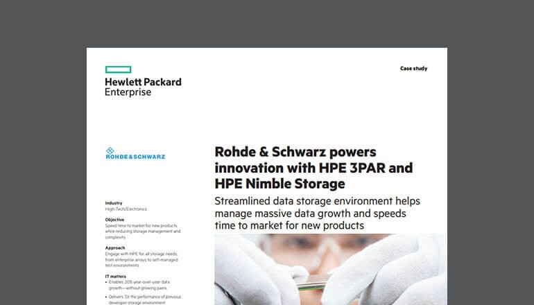 Cover of HPE Storage Powers Innovation Case Study available to download below