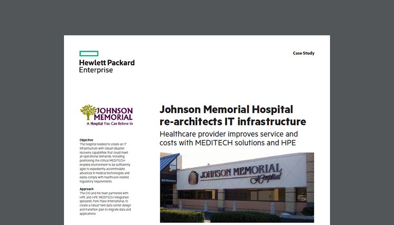 Johnson Memorial Hospital Re-Architects IT whitepaper thumb