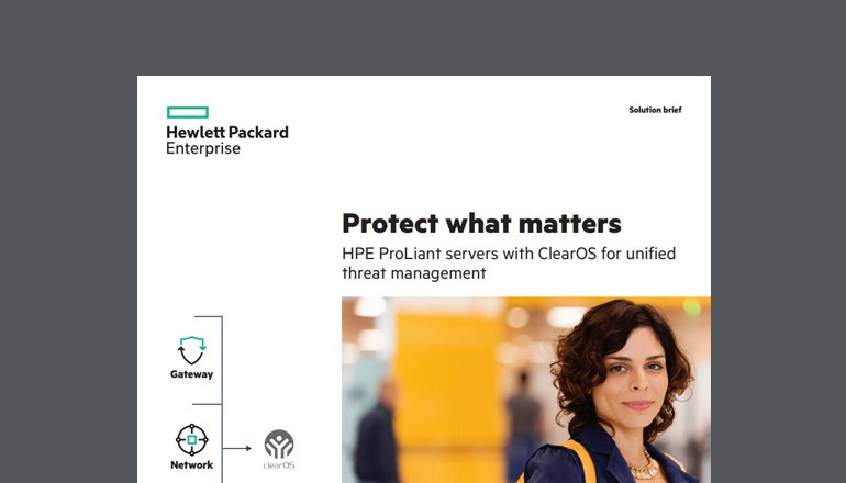 HPE ProLiant Servers with ClearOS brief