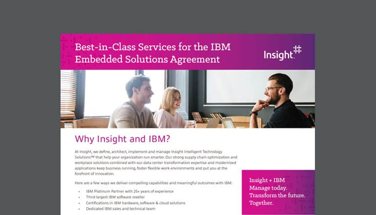 IBM Embedded Services Agreement datasheet cover