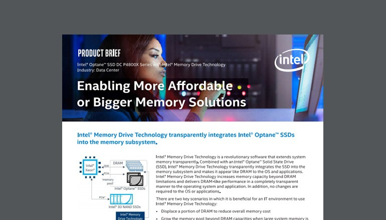 More Affordable or Bigger Memory Solutions datasheet preview