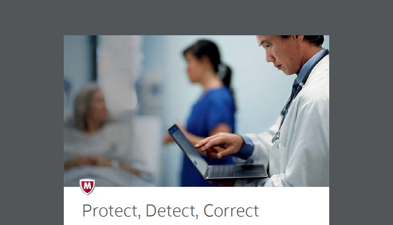 Protect, Detect, Correct: Security Connected for Healthcare Providers brochure cover