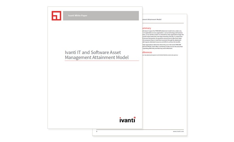 Ivanti IT and Software Asset Management Attainment Model cover