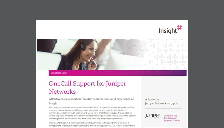 OneCall Support for Juniper Networks Technologies thumbnail