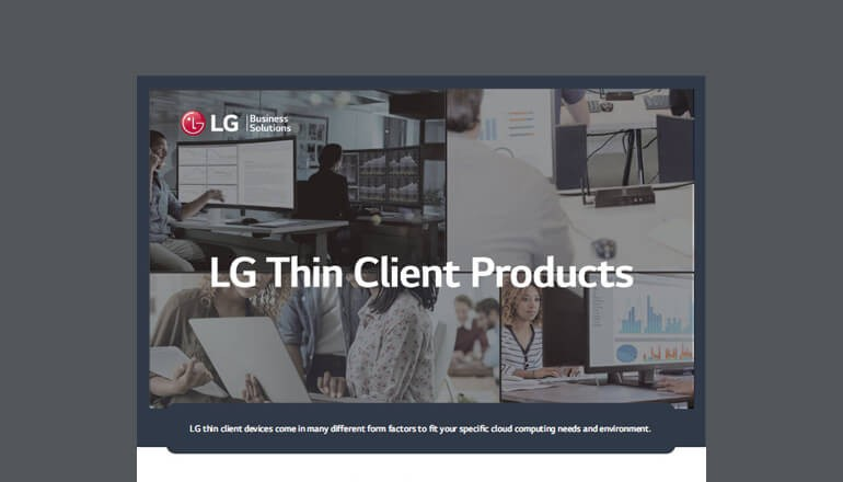 LG Thin Client Products cover