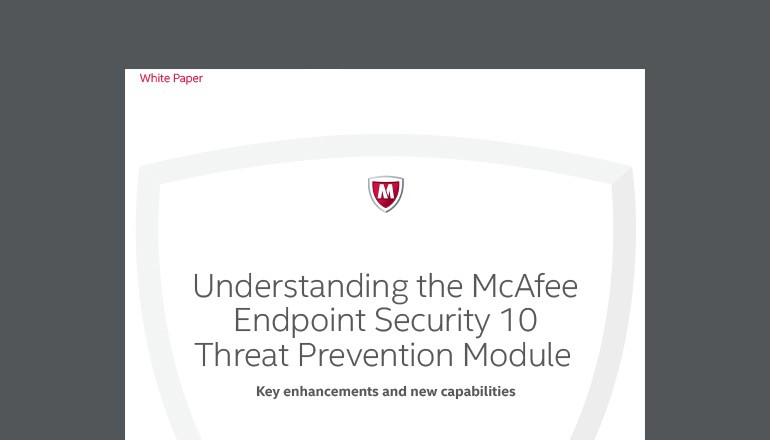 Understanding McAfee Endpoint Security 10 whitepaper cover