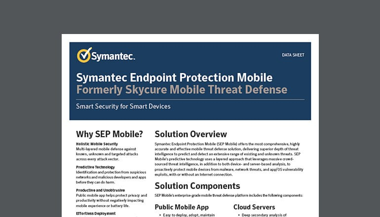 Symantec Endpoint Protection Mobile datasheet