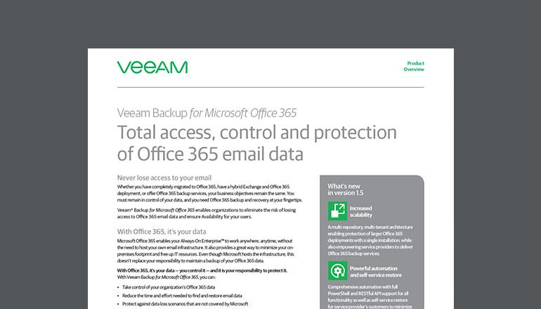 Veeam Backup for Microsoft Office 365 | Insight
