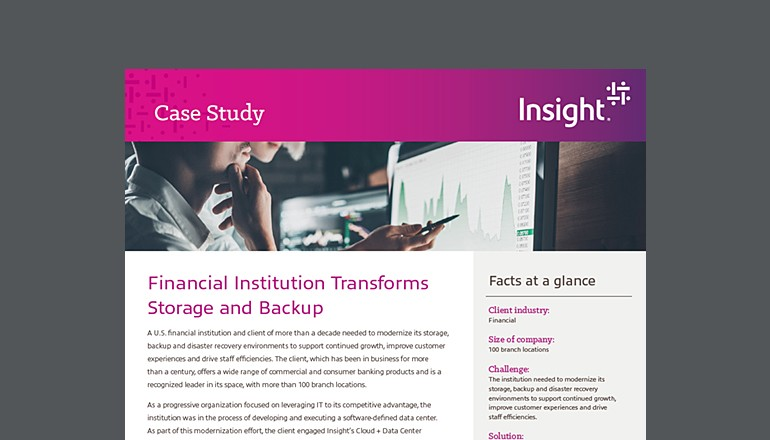 Financial Institution Transforms Storage and Backup thumbnail