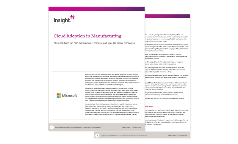 Cloud Adoption in Manufacturing whitepaper cover