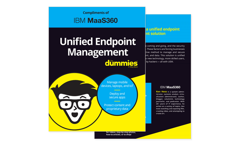 IBM MaaS360 Unified Endpoint Management ebook thumbnail