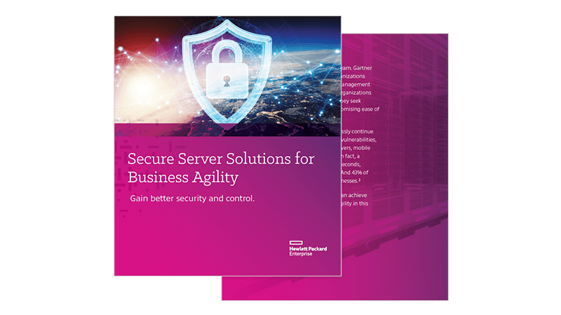 Secure Server Solutions for Business Agility cover