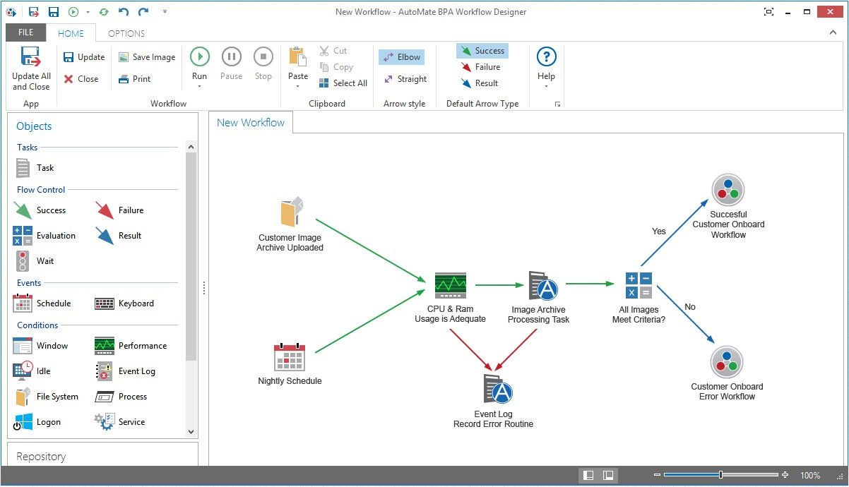 BPA Server 10 workflow designer