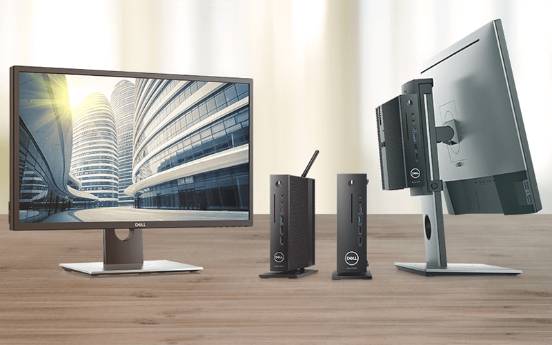 Two sets of Dell Wyse thin clients