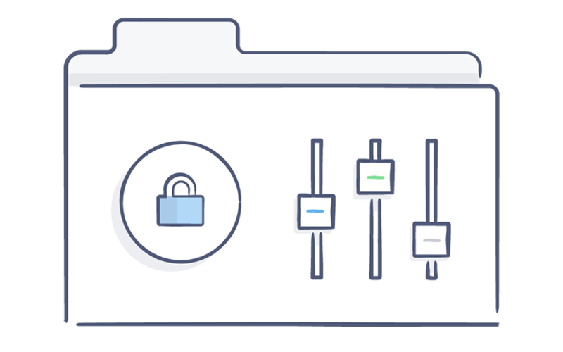 Security and data protection Dropbox illustration