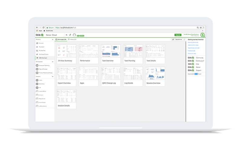 Qlik Sense solution screenshot